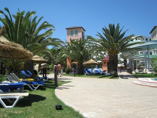 Hotel Manar:                   Beautiful gardens around swimming pool