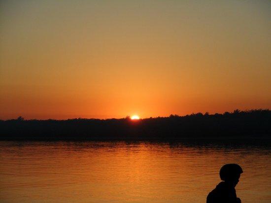 Killbear Provincial Park :                   Sunset as seen from the BEaver Dam