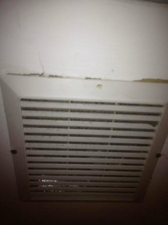 The Ponce St Augustine Hotel: Dirty bathroom fan
