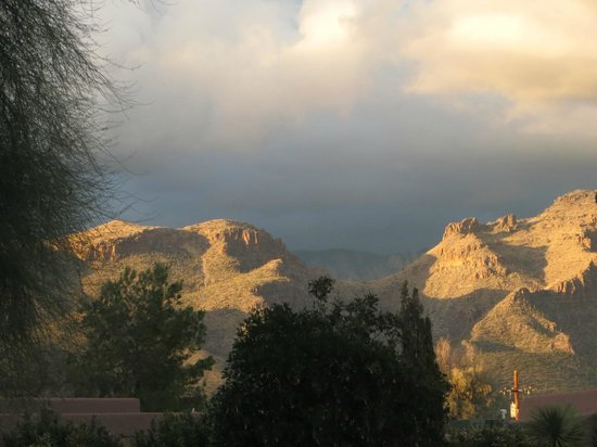 Canyon Ranch in Tucson:                   view from 2 mile loop walk