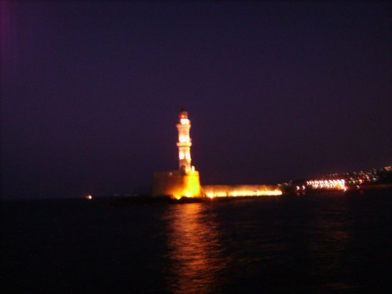 Loukia Hotel: View of the Chania Lighthouse from room