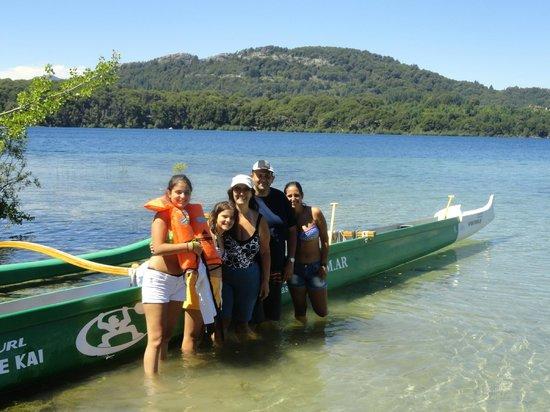 Canoas Hawaiianas de la Polinesia - Mauna Kea:                   en la primera parada