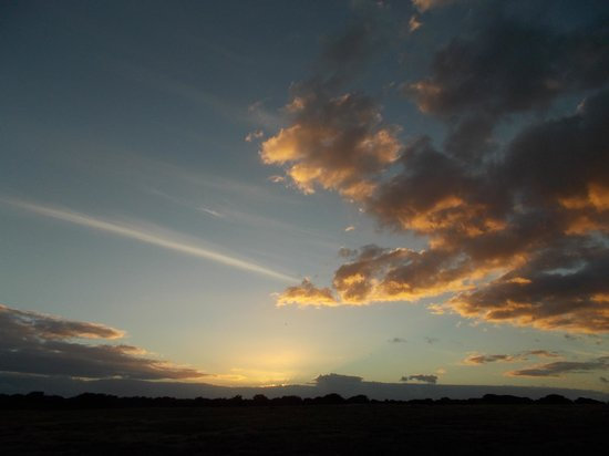 De Hoop Nature Reserve Cottages:                   Final night sunset