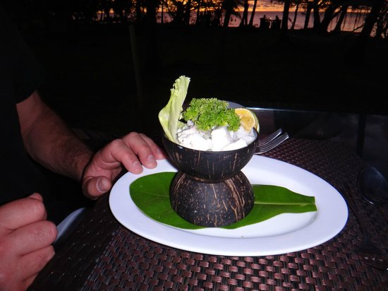 Lomani Island Resort:                   Kokoda. A must try at dinner.