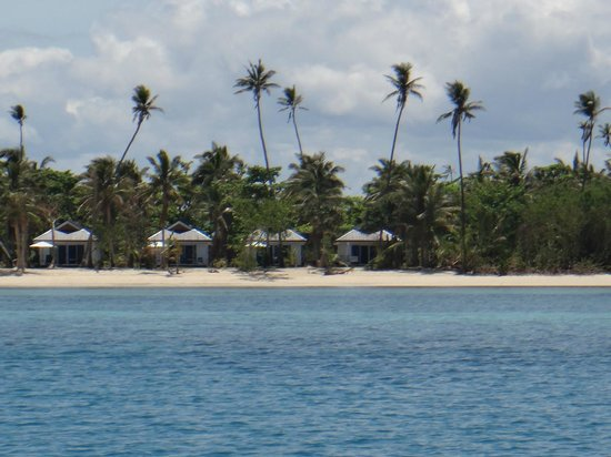 Lomani Island Resort:                   Last few burees from the water