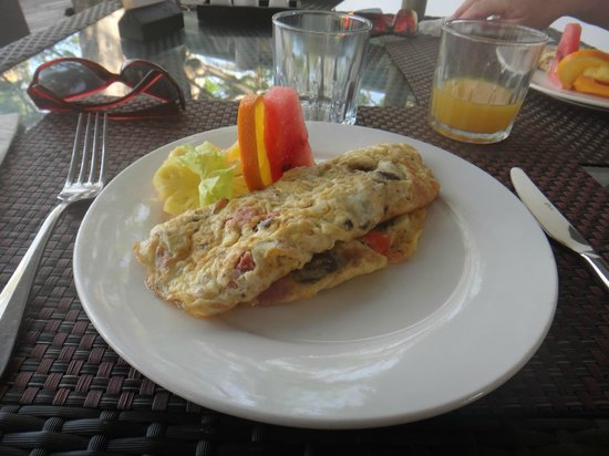Lomani Island Resort:                   Omelette. A great way to start the day.