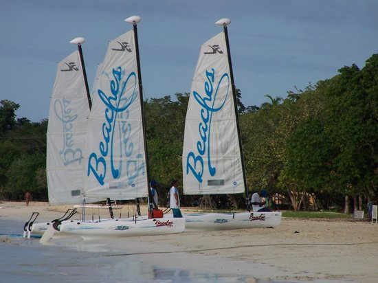 Beaches Negril Resort & Spa:                   Hobie Cats - free for guests use