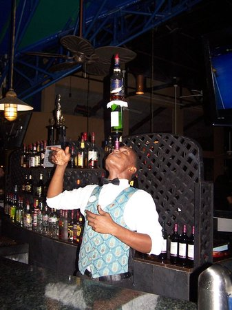 Beaches Negril Resort & Spa:                   Lorenzo the bartendar