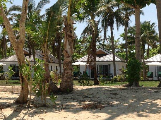 Lomani Island Resort:                   Our buree from the beach