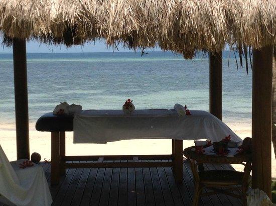 Lomani Island Resort:                   Enjoy a massage by the water
