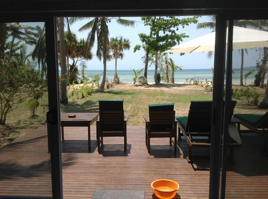 Lomani Island Resort:                   View from our lounge