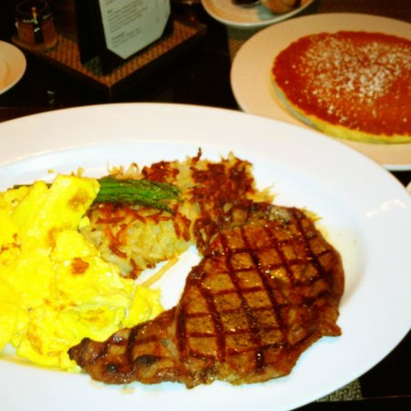 The Cafe:                   Rib-Eye and Eggs