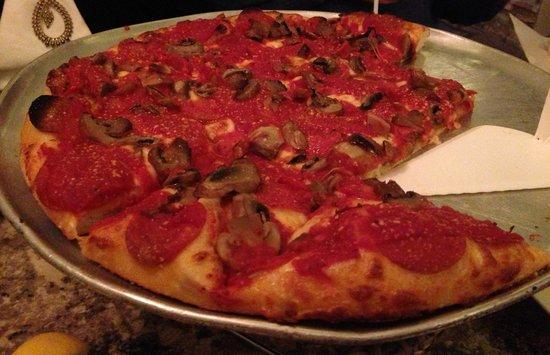 Sunset Cafe:                   pizza