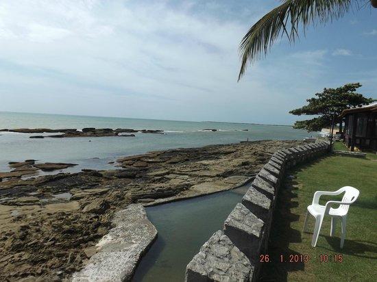 بايا كابراليا هوتل:                   Vista da praia de dentro do Hotel                 