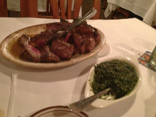 Andre's Steak House:                   Steak and cream spinach