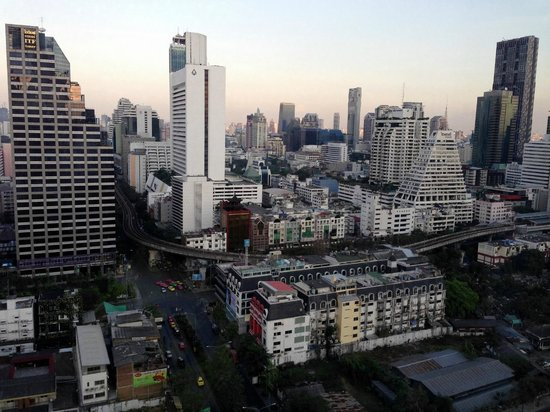 Pullman Bangkok Hotel G:                   View from the 21st floor by elevator