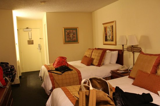 Inn at Ellis Square:                                     Our room with two double beds - large and very clean