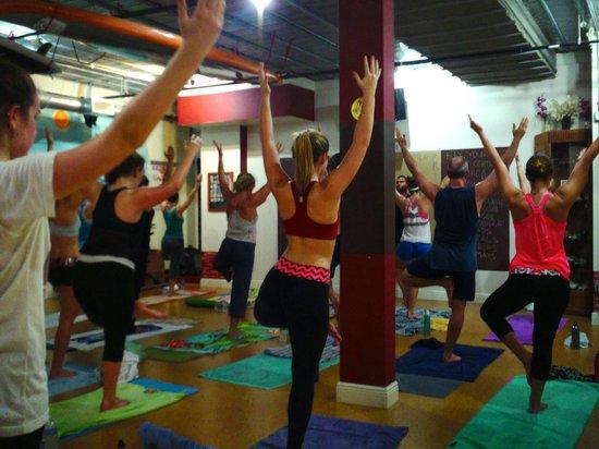 Tree pose at the Yoga Energy Studio