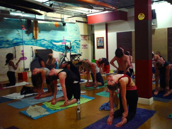 Camel pose at the Yoga Energy Studio