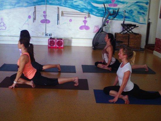 Pigeon Pose at the Yoga Energy Studio