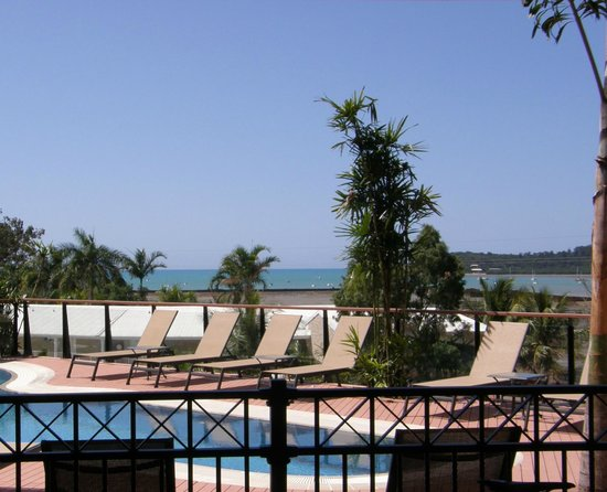 Blue Horizon Resort Apartments:                   View from the pool & sun loungers
