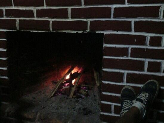 Casa de la India:                                     Fireplace!