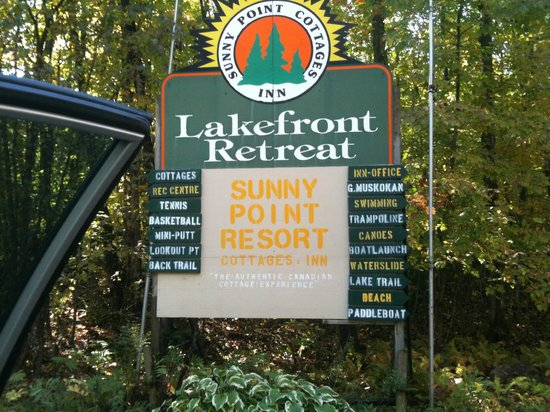 Sunny Point Resort, Cottages & Inn :                                     Welcome sign!