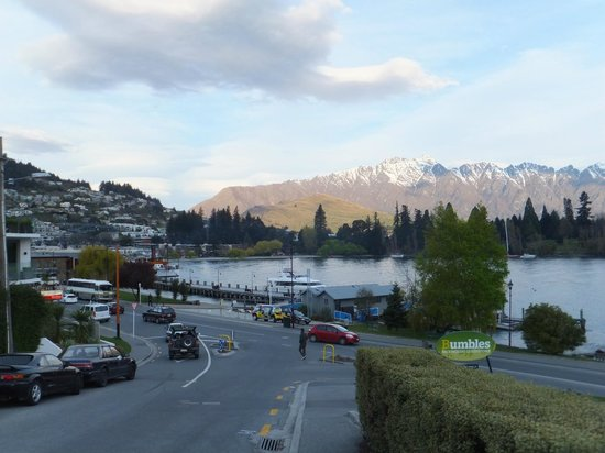 Hotel St Moritz Queenstown - MGallery Collection:                   View towards the town centre from the road outside the hotel