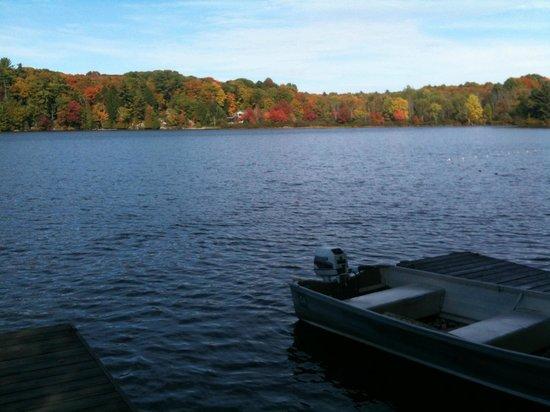 Sunny Point Resort, Cottages & Inn :                                     Lake near the boat docks!