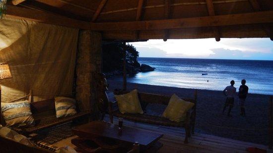 Kaya Mawa:                   view from the bar                 