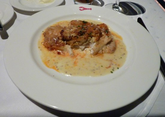 Joe Muer Seafood - Crab Stuffed Atlantic Flounder in a Grainy Mustard Beurre Blanc Sauce