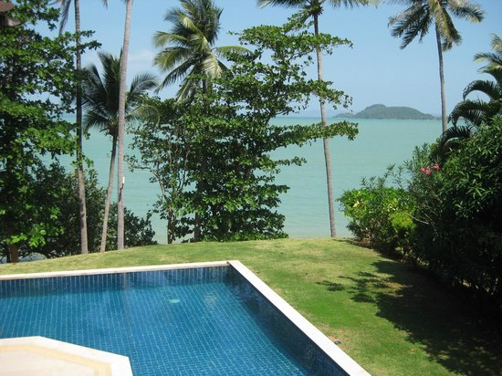 The Village Coconut Island:                                     View from bedroom with private pool and beach view