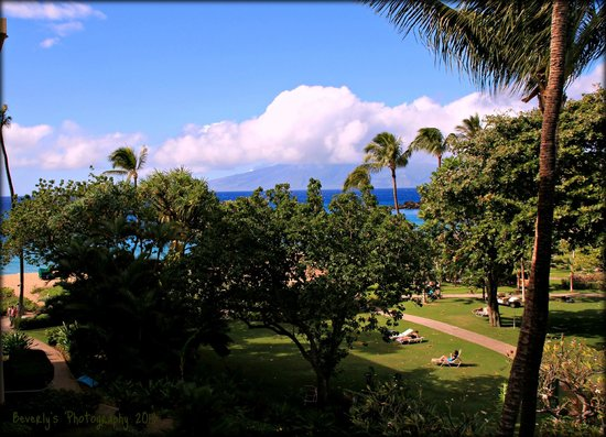 Kaanapali Beach Hotel:                   View from room looking towards the ocean