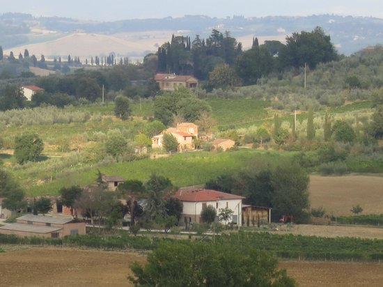 Agriturismo La Falconara:                                     View from Portico bedroom