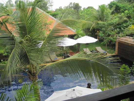 Siddharta Boutique Hotel:                                     View from our balcony