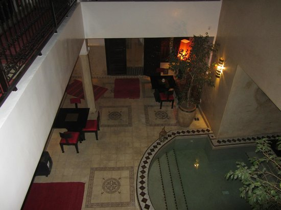 Riad Argan:                                     View of the common area from the second floor