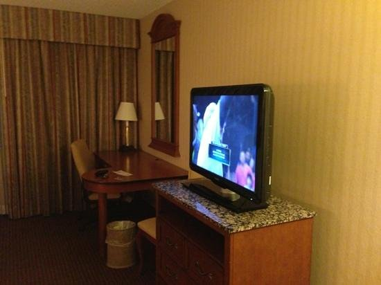 Hampton Inn NY - JFK:                   Flatscreen and desk