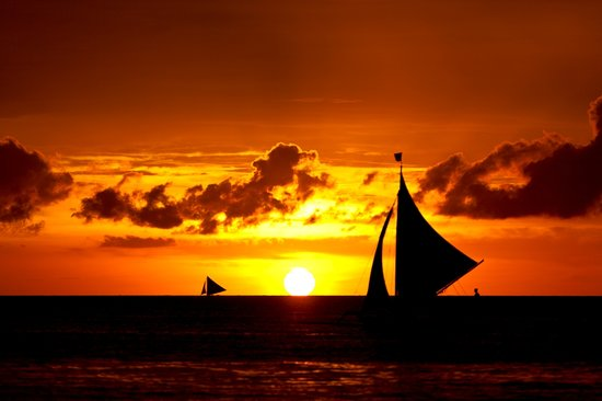Monaco Suites de Boracay: sunset