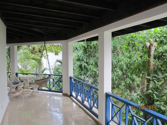 Negril Tree House Resort:                                     Our balcony