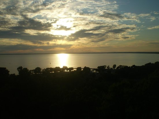 High Cliff State Park:                   Sunset from the observation tower