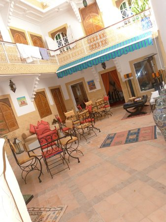 Riad Shaden:                                     Courtyard and a sneak peek of the livving room