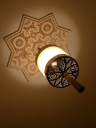 Riad Shaden:                                     The stunning ceiling Lamp