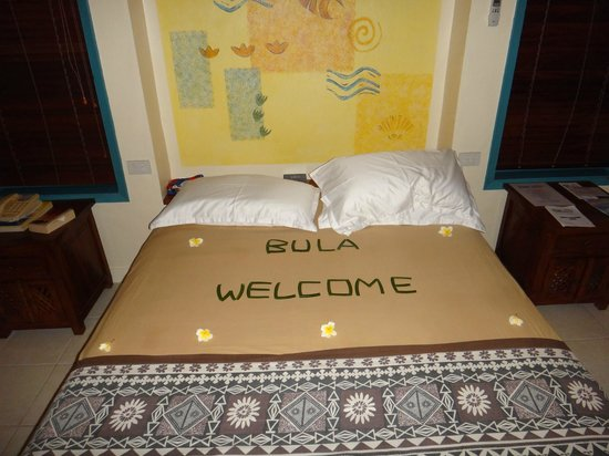 Fiji Hideaway Resort & Spa:                   Bed in our room when we arrived