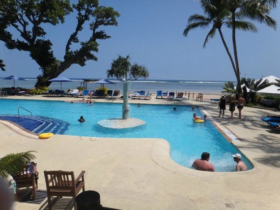 Fiji Hideaway Resort & Spa:                   Pool area during day