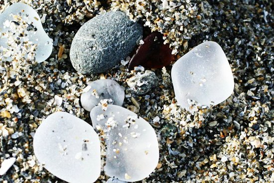 Glass Beach: glass