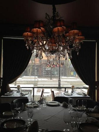 The Chop House - Ann Arbor :                   Priceless view from the Chefs Table.