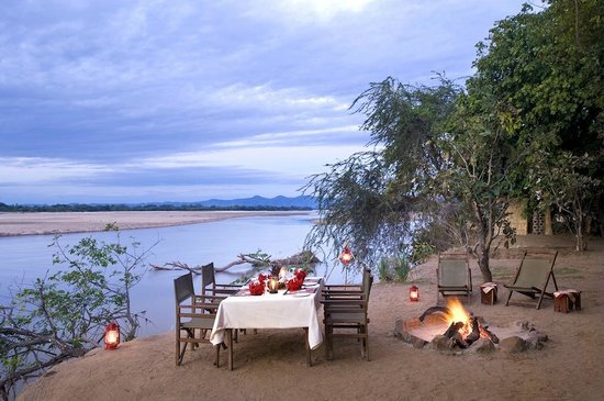 Island Bush Camp: Private dinner by the river