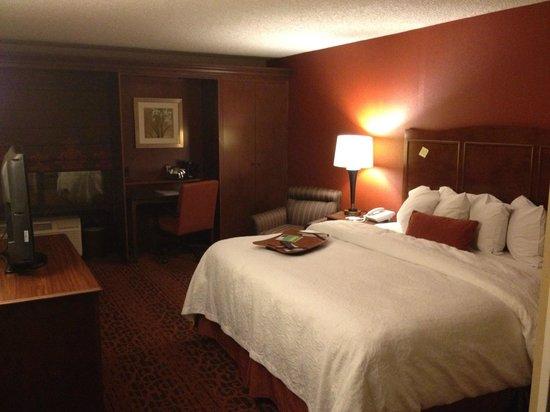 Hampton Inn Salt Lake City/Sandy:                   部屋は必要十分な広さ