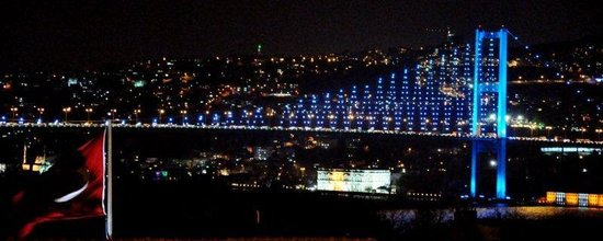 Conrad Istanbul Bosphorus:                   Night view from room no 1116