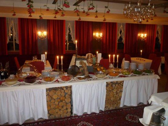 Hotel Christof:                   Il tavolo delle verdure